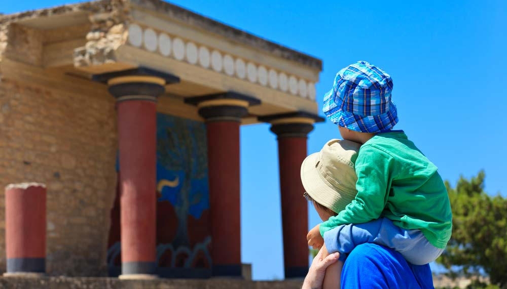 Knossos paleis op kreta