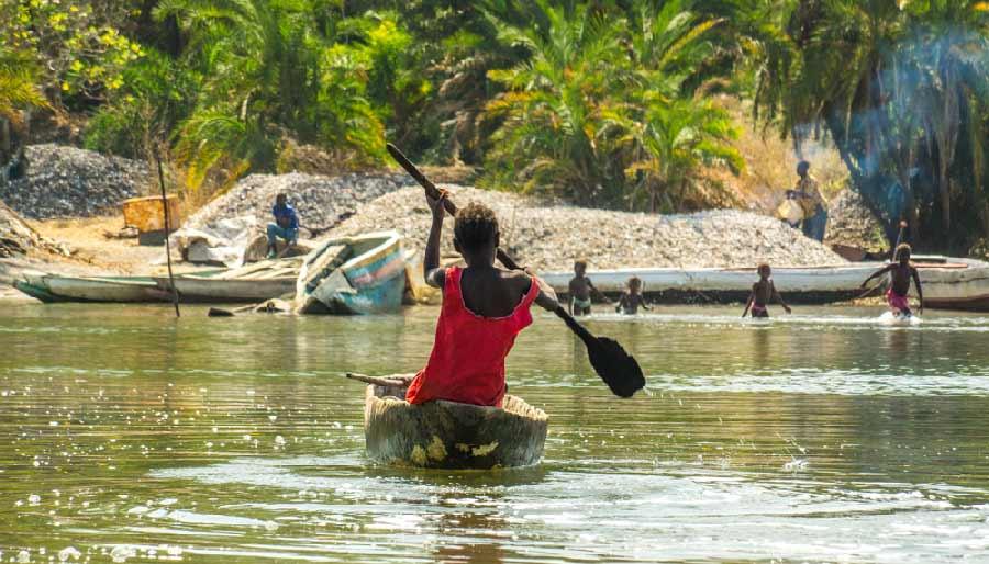 boottocht over de gambia rivier
