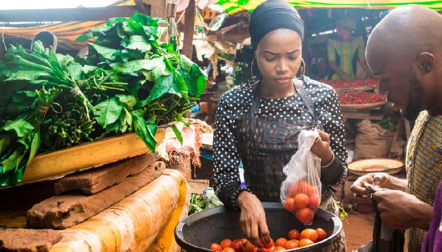 Banjul markt gambia