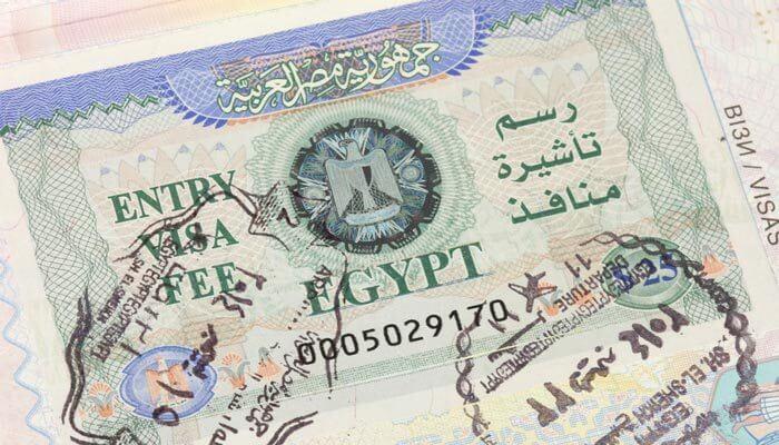 vakantie egypte tips regel een visa
