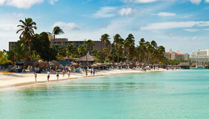 Waar is het warm in januari aruba