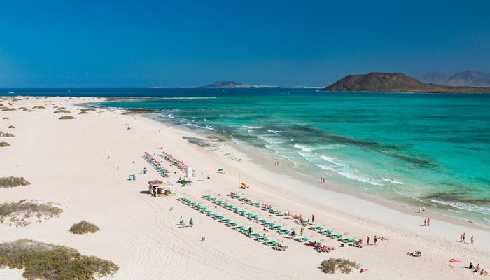 Witte stranden canarische eilanden