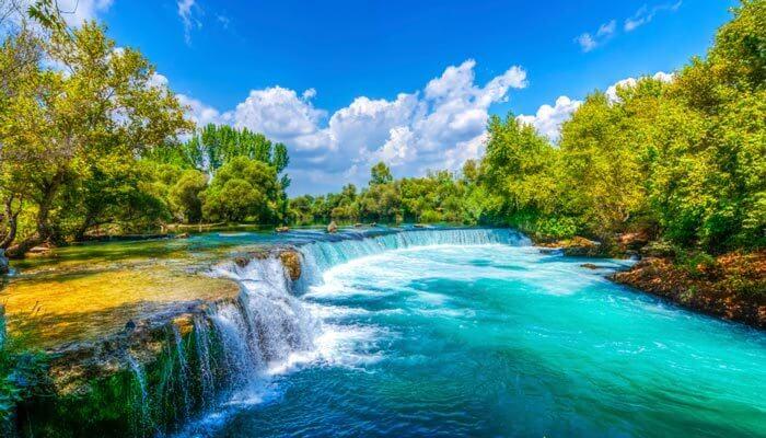 manavgat watervallen side turkije