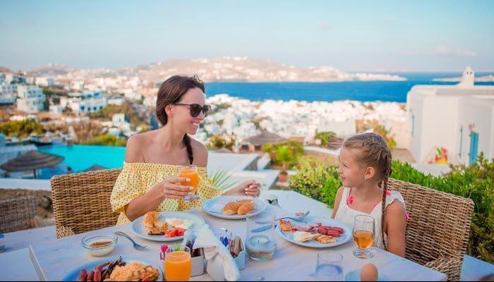 restaurant griekenland eten moeder dochter