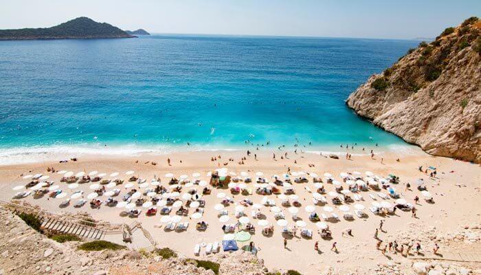 mooiste stranden van turkije kaputas strand tussen kas en kalkan