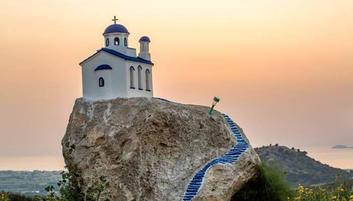 warmste eilanden griekenland zia kos kerk