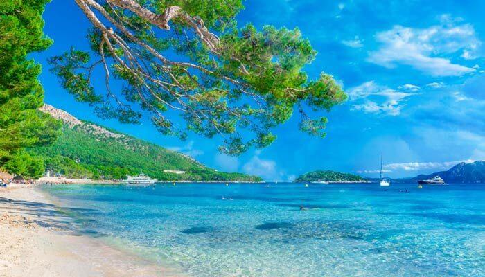 Mooiste baaien mallorca  cala pi de la posada strand