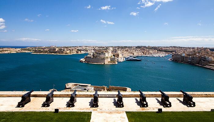 Bezienswaardigheden Valletta Saluting Battery