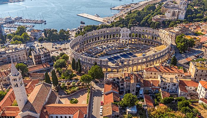 Bezienswaardigheden Istrie - Amfitheater van Pula