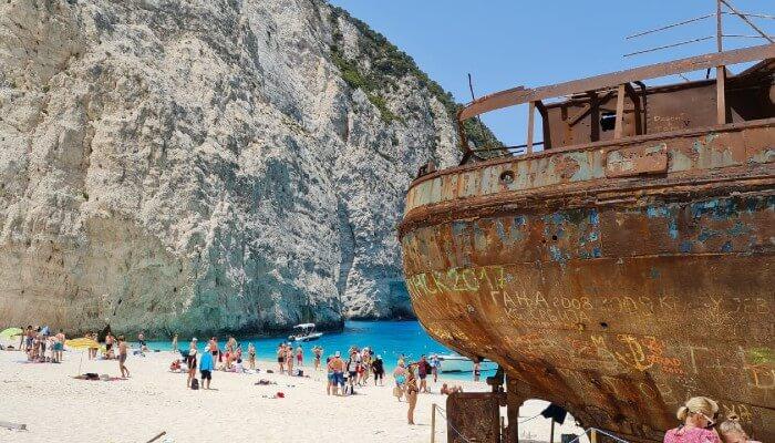 Wat te doen op Zakynthos - Shipwreck beach